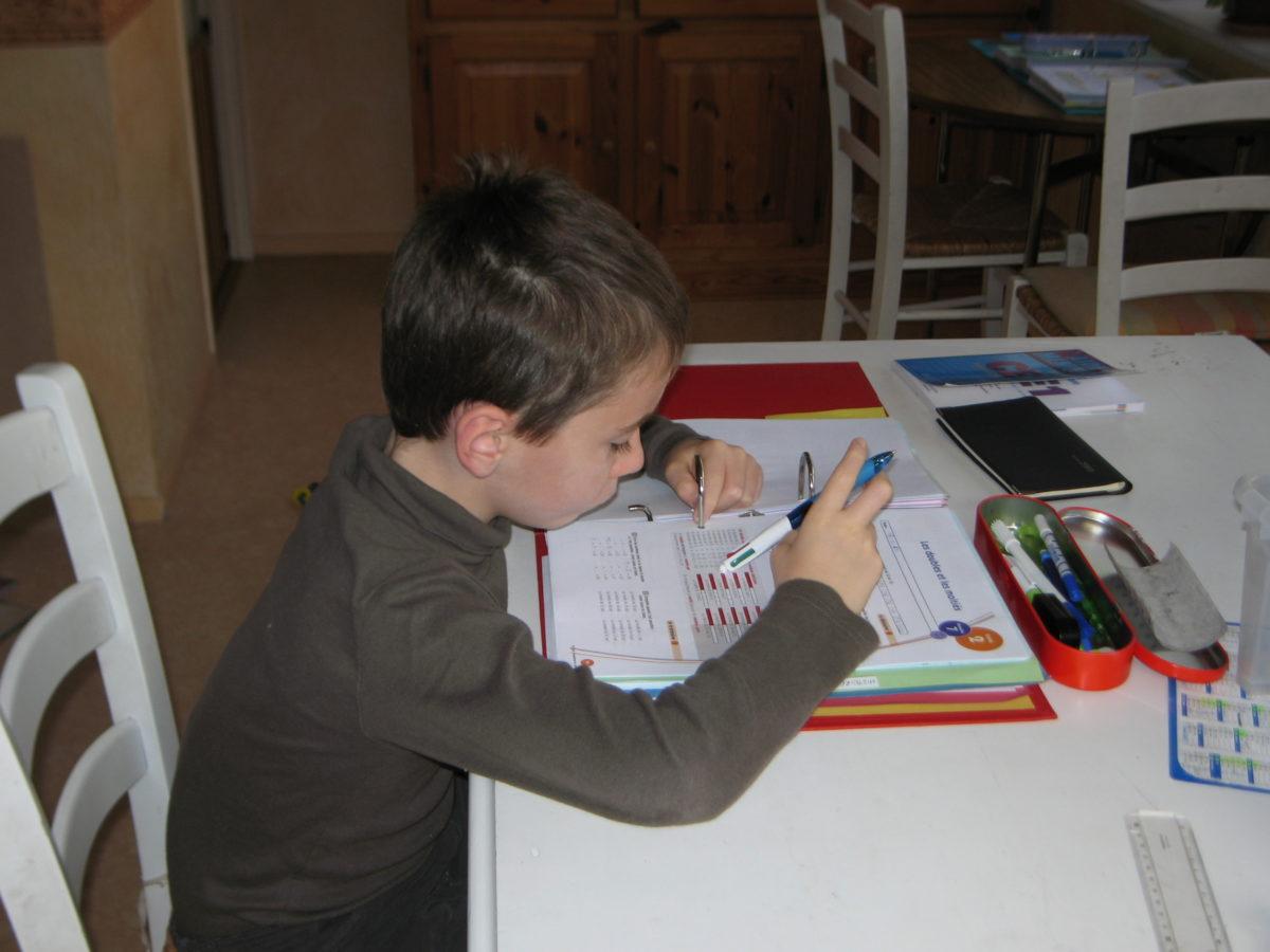 École à la maison - octobre 2010
